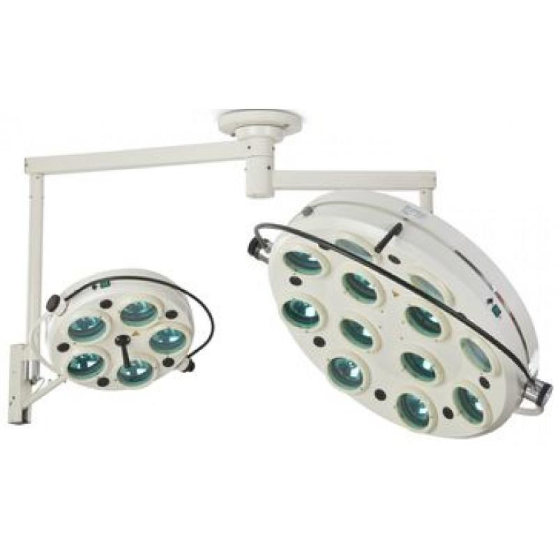 Светильник хирургический потолочный бестененивой 5+12 ламп